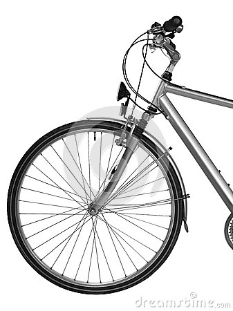 Peça da bicicleta isolada (trajeto de grampeamento)