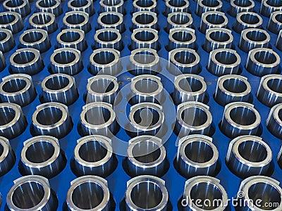 Peças feitas à máquina aço
