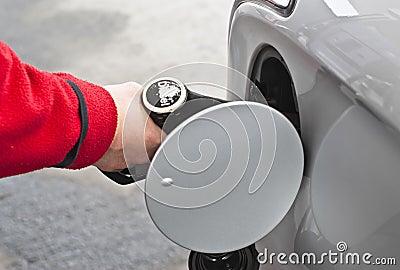 Pełny paliwo zbiornik