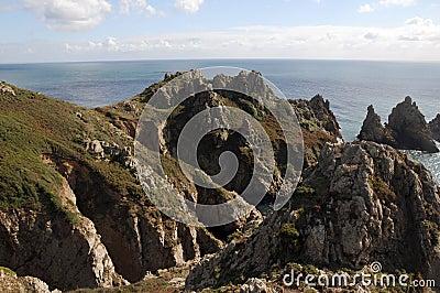 Pea Stacks rocks on Guernsey