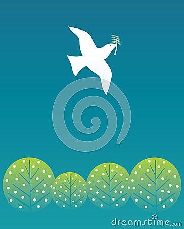Free Peace Bird Stock Image - 10264711