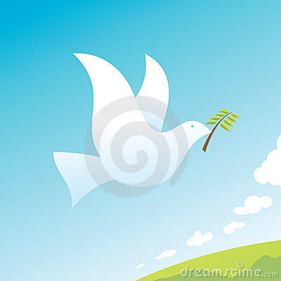Free Peace Bird Stock Photography - 10289812