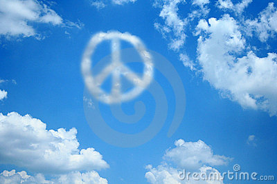 Peace Cloud Royalty Free Stock Photography - Image: 3157097