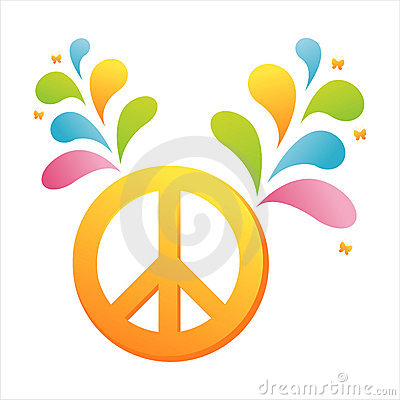 Peace with colorful splash