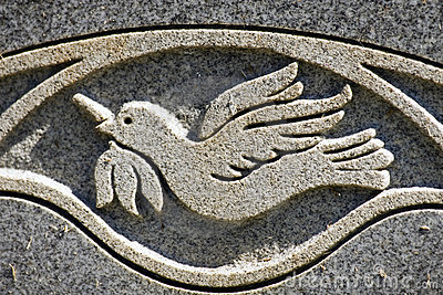 Peace Dove Engraving
