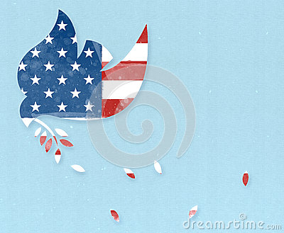 Peace Dove with USA flag