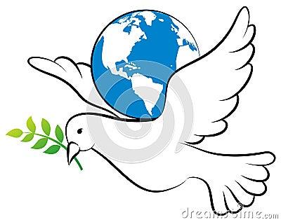 Peace Dove Stock Vecto...