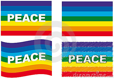 Peace flag set