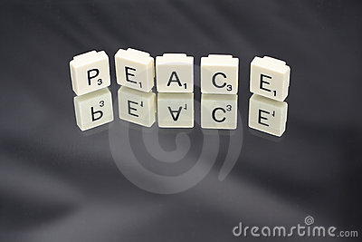 Peace in Letter Word Game Tiles
