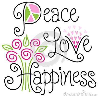 Free Peace Love And Happiness/eps Royalty Free Stock Photos - 41780018