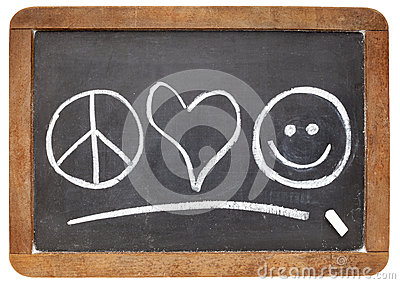 Peace, love and happiness