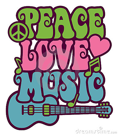 Peace Love Music Vector Illustration