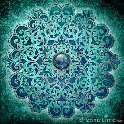 Peace Mandala Blue