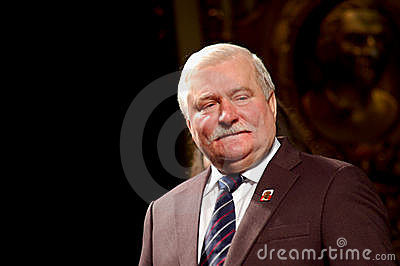 Peace Nobel Lech Walesa at the Regio Editorial Photo