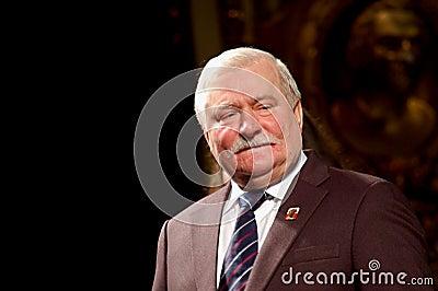 Peace Nobel Lech Walesa at the Regio Editorial Photo