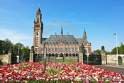 Peace Palace International Court of Justice ICJ Editorial Image