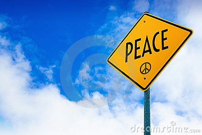 Peace Road Sign