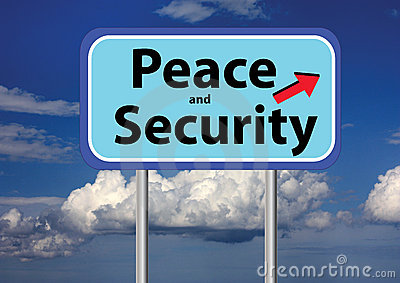 Peace and security and sky