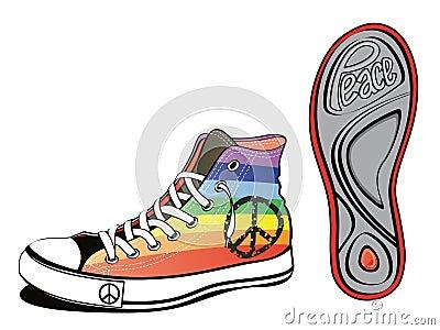 Peace shoe