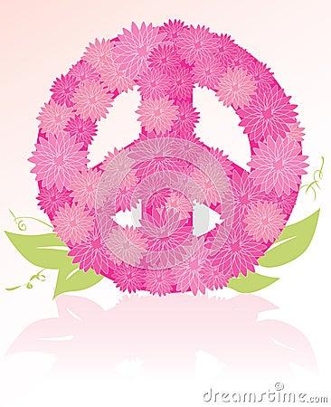 Peace Sign flower bouquet