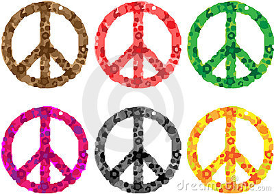 Peace sign flower power