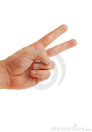 Peace sign isolated