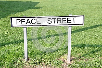 Peace street sign