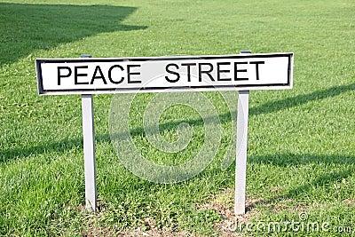 Peace street sign