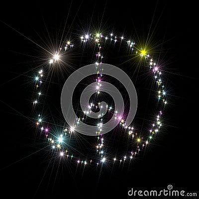 Peace symbol stars