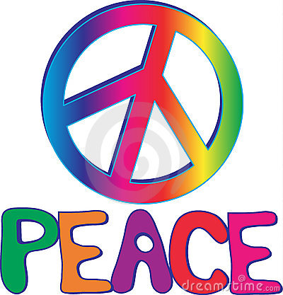 PEACE text and sign