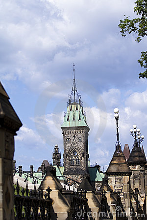 The Peace Tower On Parliament Hill, Ottawa
