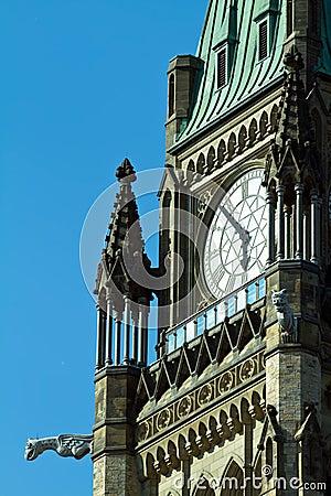 The Peace Tower On Parliament Hill, Ottawa, Ontari