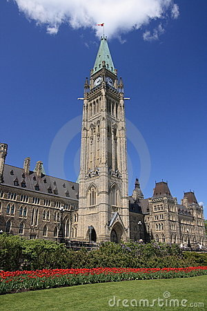 Peace Tower During Spring