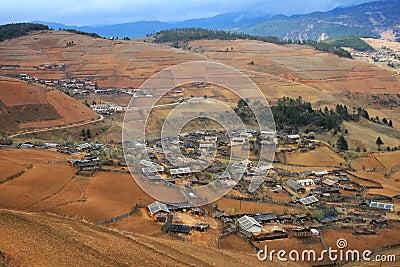 Peaceful altiplano village