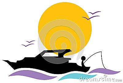 Peaceful angler