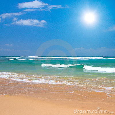 Free Peaceful Beach Scene Stock Image - 6629041