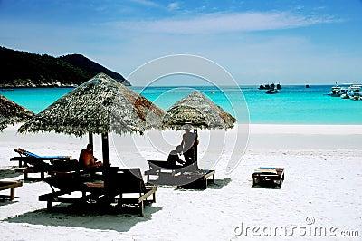 Peaceful beach scenery