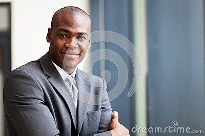Peaceful black businessman