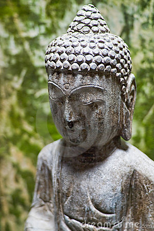 Peaceful buddhist statue