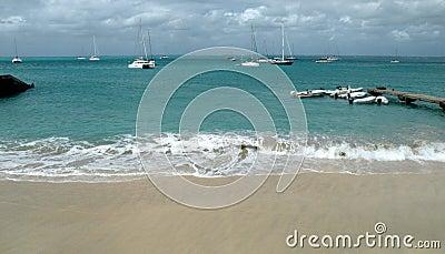 Peaceful Caribbean harbor