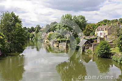 Peaceful  French riverbank