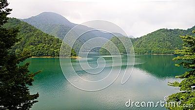 Peaceful lake of Tokyo
