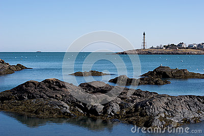 Peaceful New England harbor