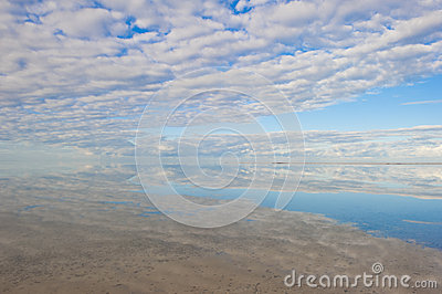 Peaceful ocean panorama reflection Australia