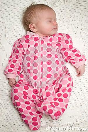 Peaceful Sleeping Baby Newborn Girl