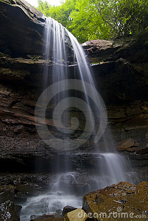 Peaceful waterfall in Pennsylvania Forest