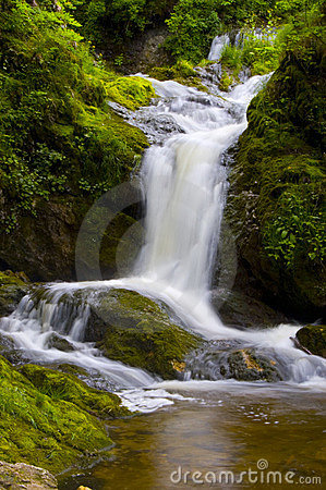 Peaceful Waterfall Scene