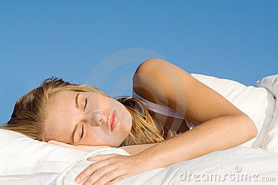 Peaceful woman sleeping