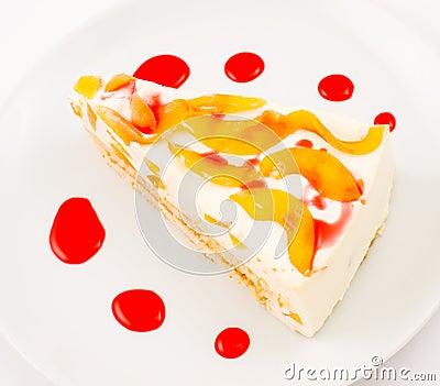 Peach cheese cake