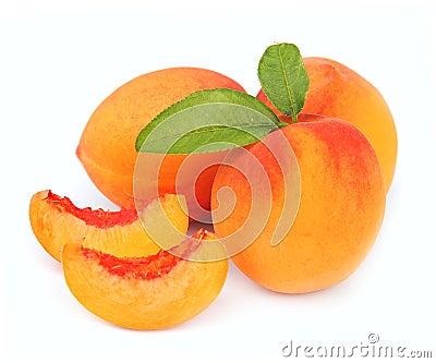 Peach fruit and segments of peach